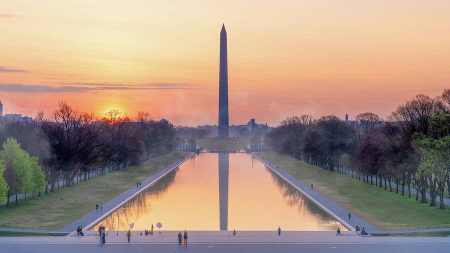 Misty Sunrise On The National Mall by Chris Lord