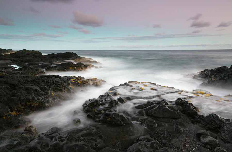Tranquility Photograph - Misty Surf, Puna Coast by Don Smith