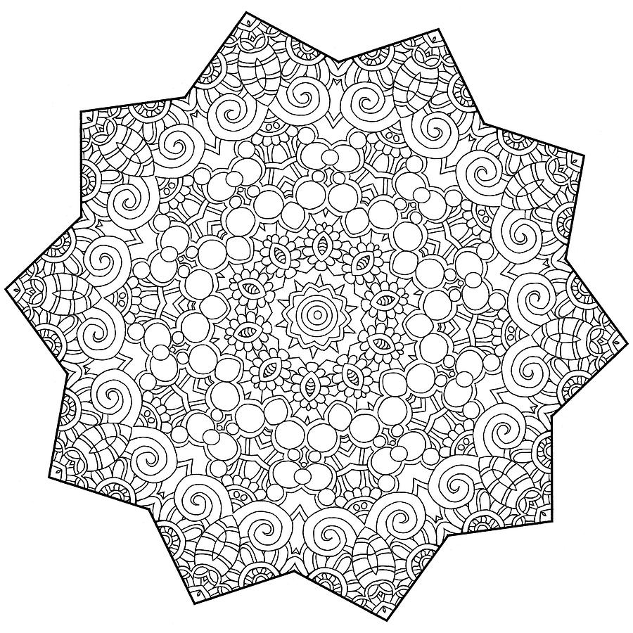 Coloring Books Drawing - Mixed Coloring Book 23 by Kathy G. Ahrens