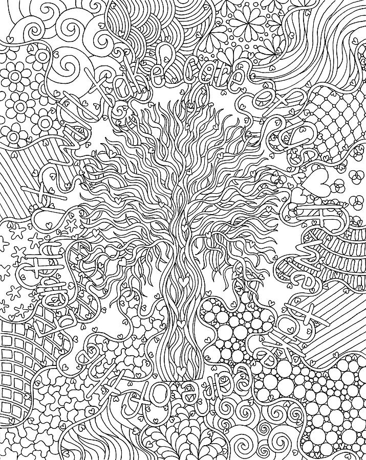 Coloring Books Drawing - Mixed Coloring Book 55 by Kathy G. Ahrens