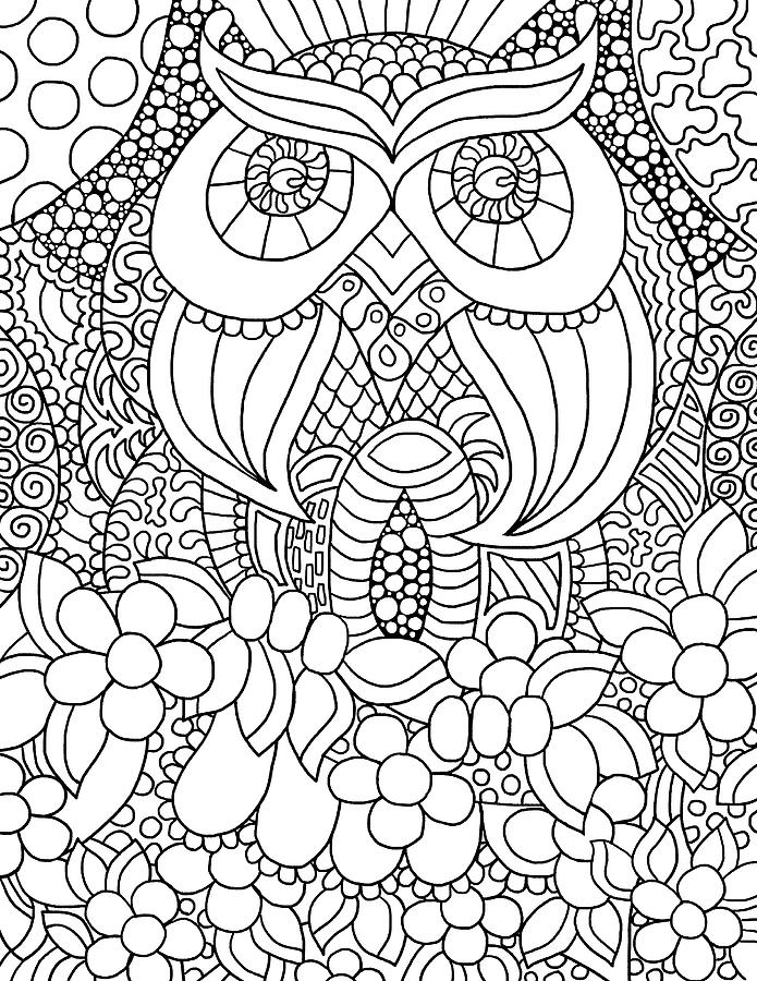 Coloring Books Drawing - Mixed Coloring Book 56 by Kathy G. Ahrens