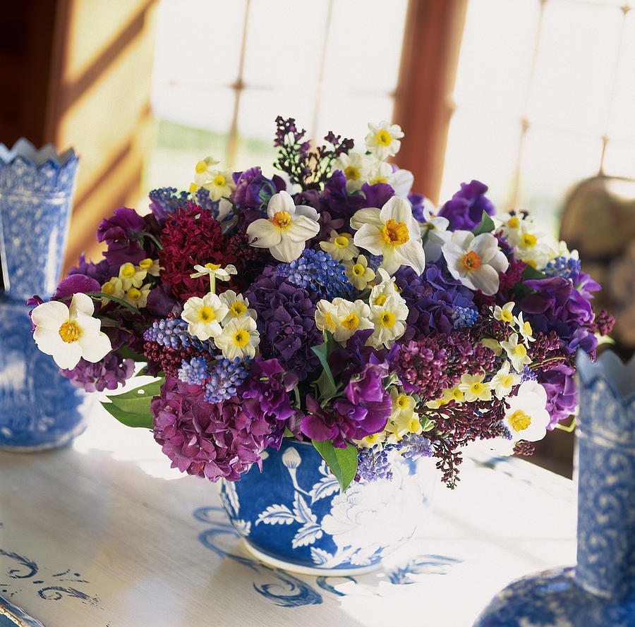 Mixed Posy Vase Arrangement Photograph by Richard Felber