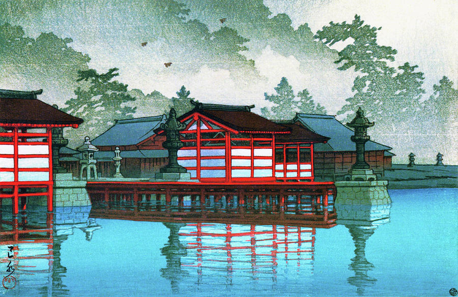 Ukiyoe Painting - Miyajima In The Mist - Digital Remastered Edition by Kawase Hasui