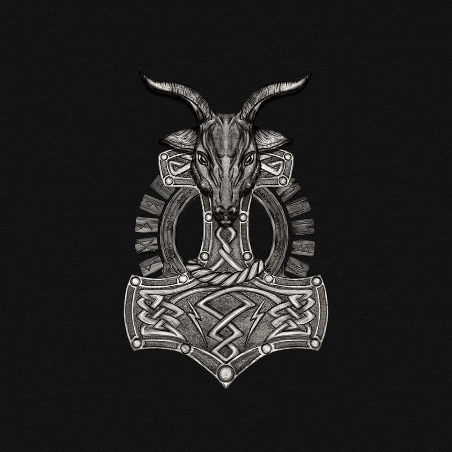 Mjolnir The Hammer Of Thor Digital Art By Lioudmila Perry