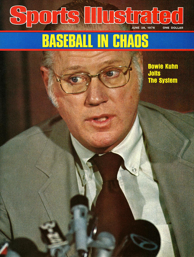 Mlb Commissioner Bowie Kuhn Sports Illustrated Cover Photograph by Sports Illustrated