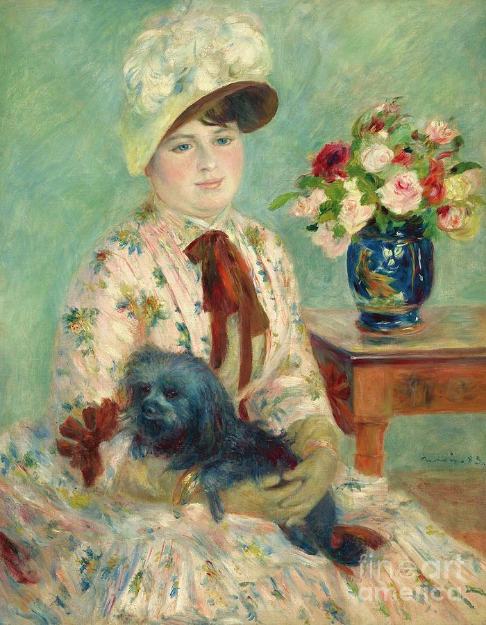 Renoir Painting - Mademoiselle Charlotte Berthier, 1883 by Pierre Auguste Renoir