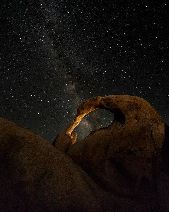 Milky Photograph - Mobius Arch And The Milky Way by Karl Klingebiel