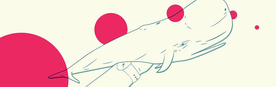 Moby Dick Digital Art - Moby Fist 2.0 by Will Leffert