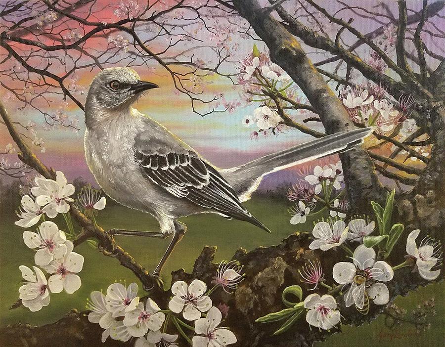 Mockingbird Painting - Mockingbird Sunset by Gary Lovelace