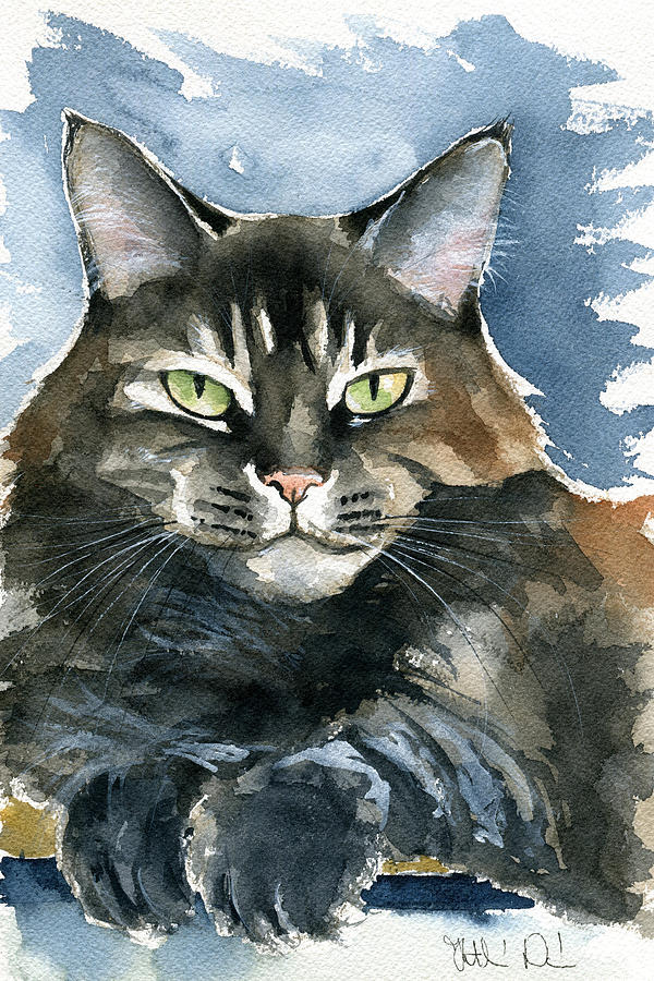 Mod Cat Painting by Dora Hathazi Mendes
