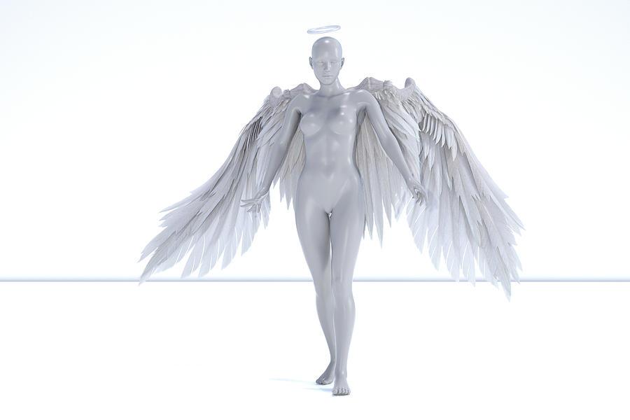 Human Digital Art - Angelic  by Betsy Knapp