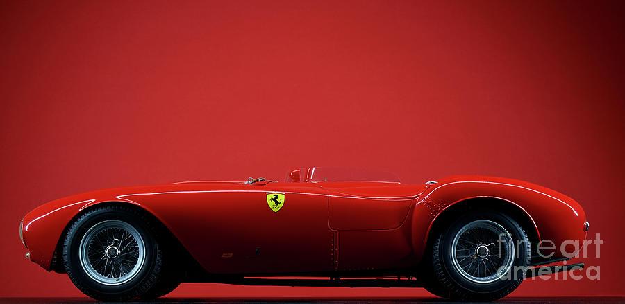 Model Ferrari 375 Plus On Red Photograph by Simonbradfield