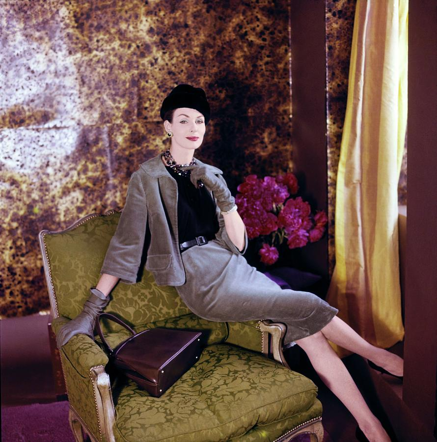 Model In A Ben Barrack Suit Photograph by Horst P. Horst