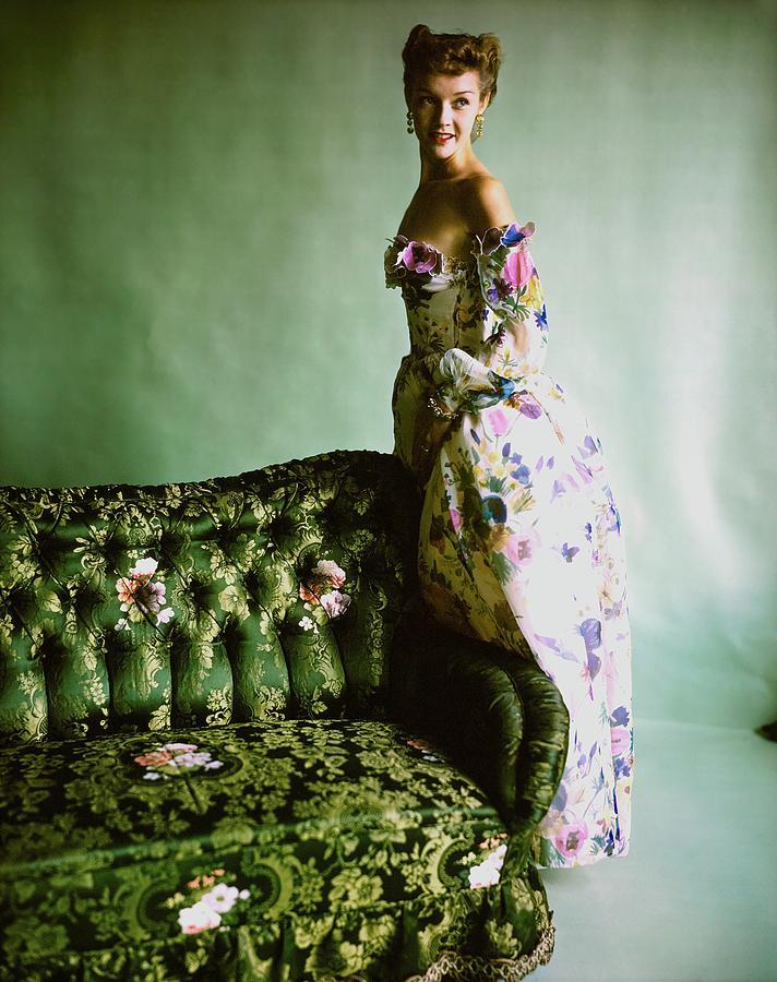 Model In A Ben Gam Dress Photograph by Horst P. Horst