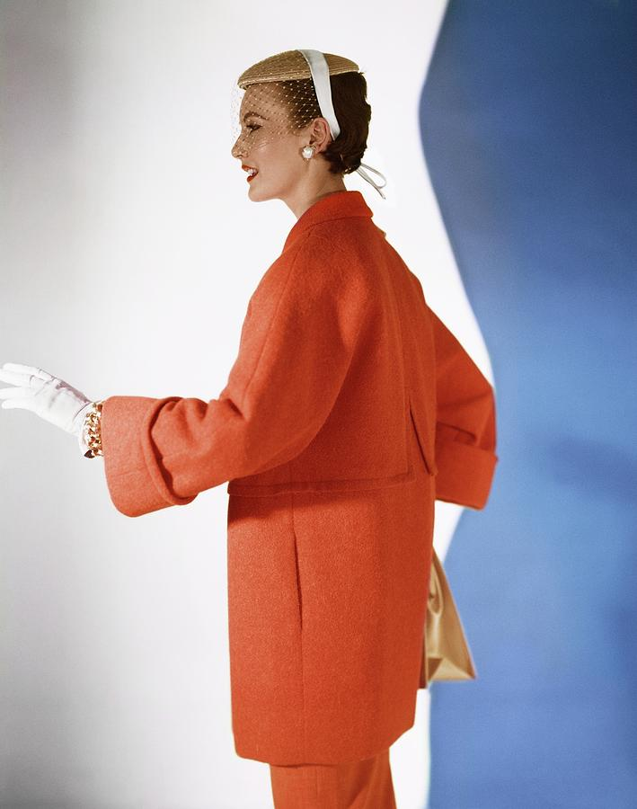 Model In A Vogue Patterns Coat Photograph by Horst P. Horst