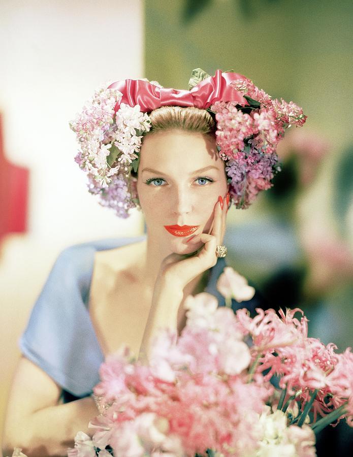 Model In An Emme Headdress Photograph by Horst P. Horst