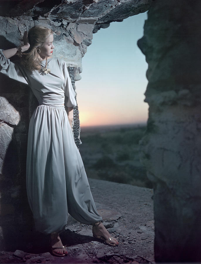Model In Claire Mccardell Trouser Set At Twilight Photograph by Serge Balkin