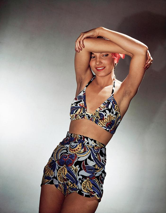 Model In Saks Fifth Avenue Bikini Photograph by Horst P. Horst
