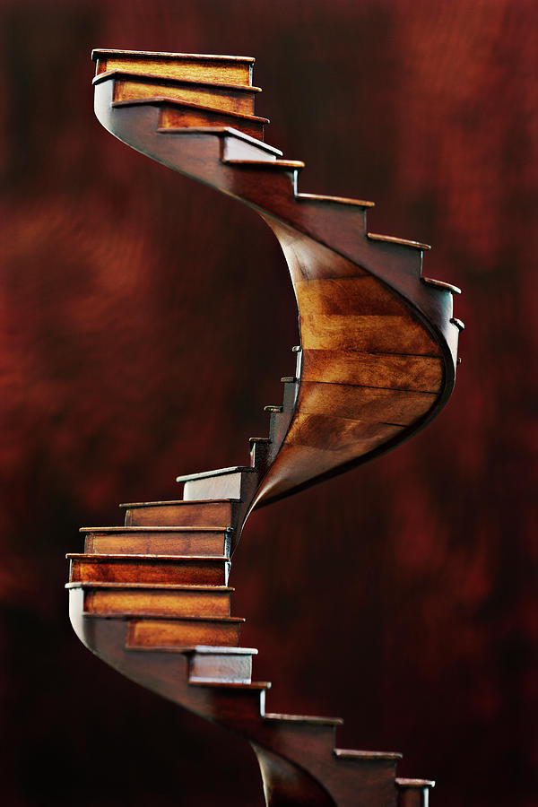 Model Of A Spiral Staircase Photograph by David Muir