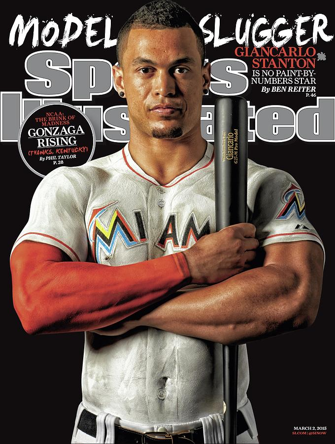 Model Slugger Giancarlo Stanton Is No Paint-by-numbers Star Sports Illustrated Cover Photograph by Sports Illustrated