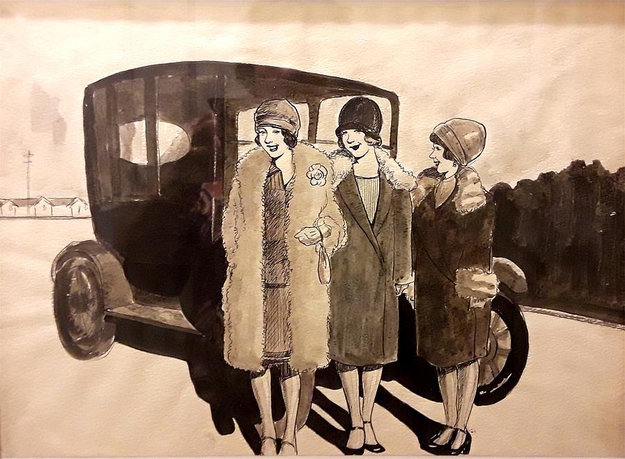 Model T Ladies by Mel Thompson