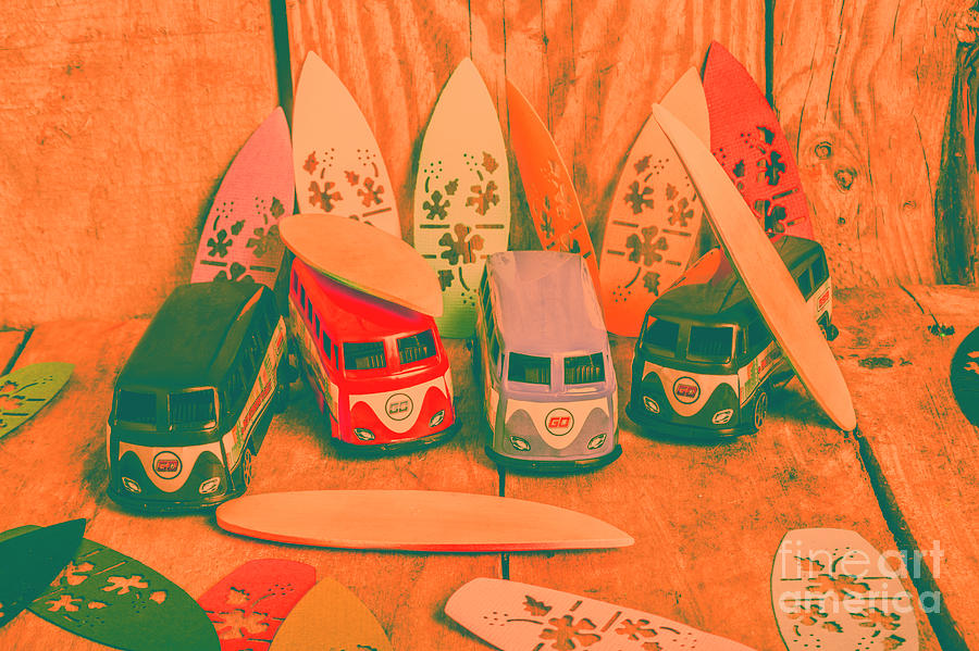 Vintage Photograph - Modelling A Surfing Vacation by Jorgo Photography - Wall Art Gallery
