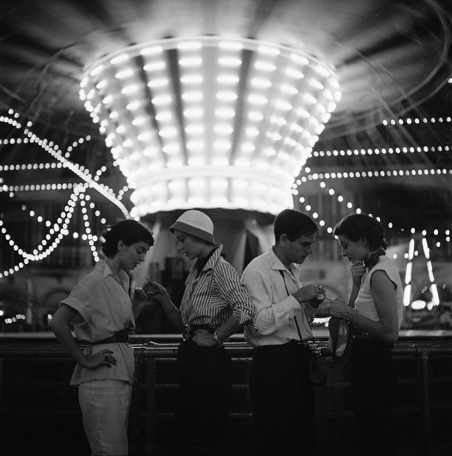 Models At A Carnival Photograph by Gordon Parks