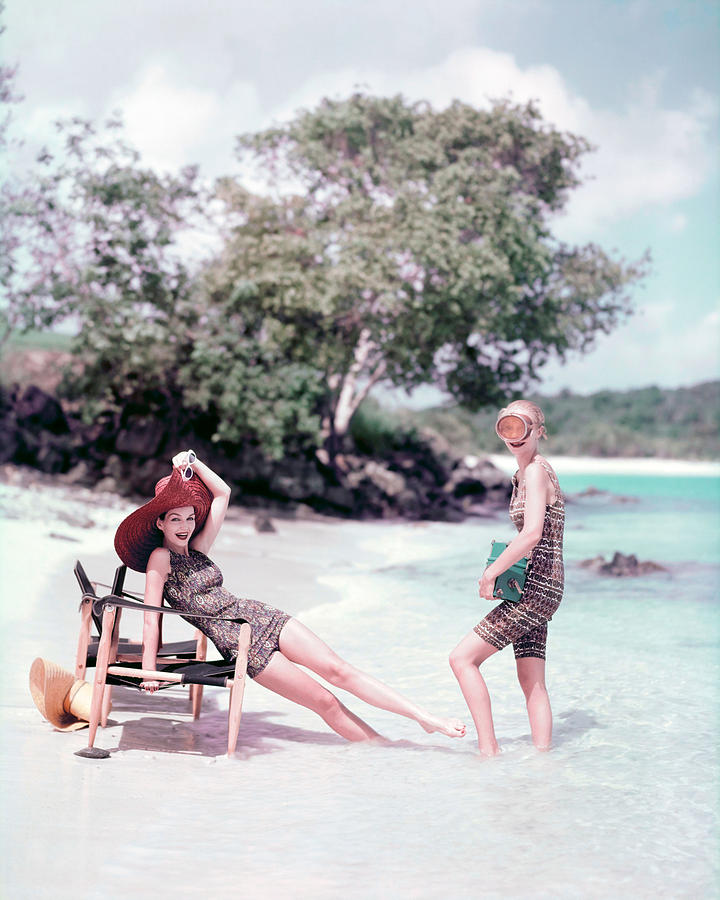 Models At The Beach In St. John Photograph by Richard Rutledge