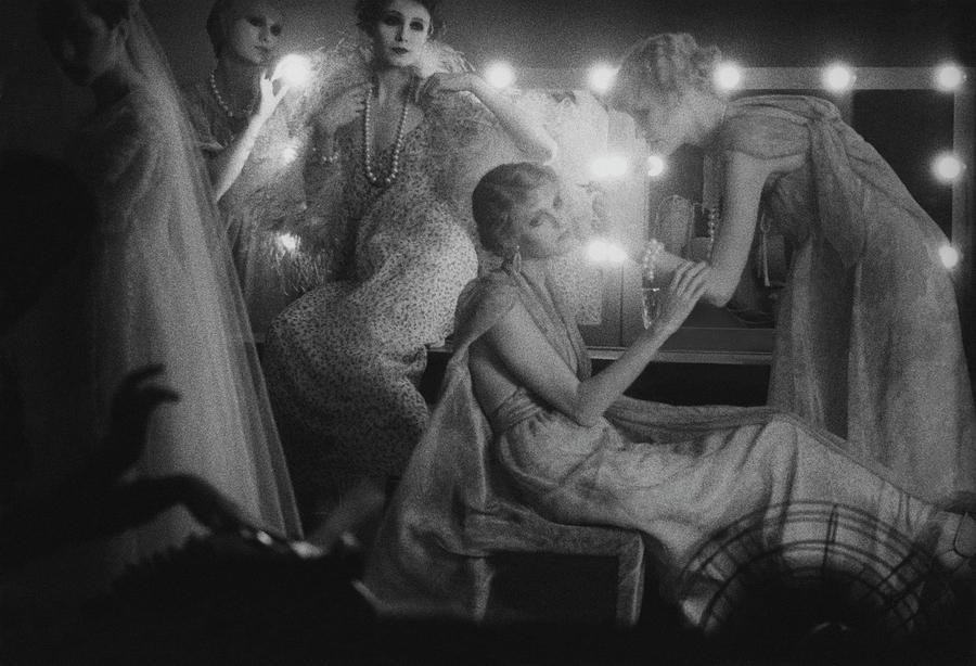 Models In Dressing Room, 1975 Photograph by Sarah Moon