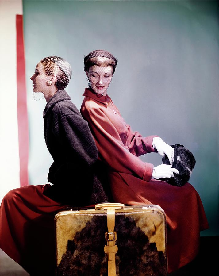 Models In Sportwhirl Coats Photograph by Horst P. Horst