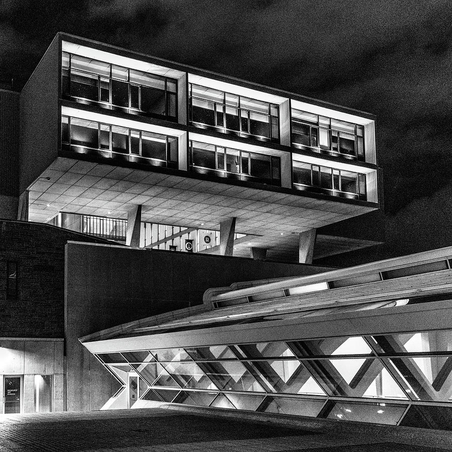 Modern Architecture Monochrome by Randy Scherkenbach