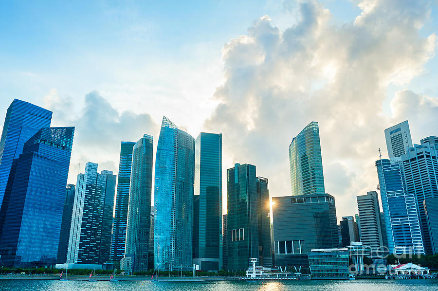 Commercial Photograph - Modern Architecture Of Singapore by Joyfull