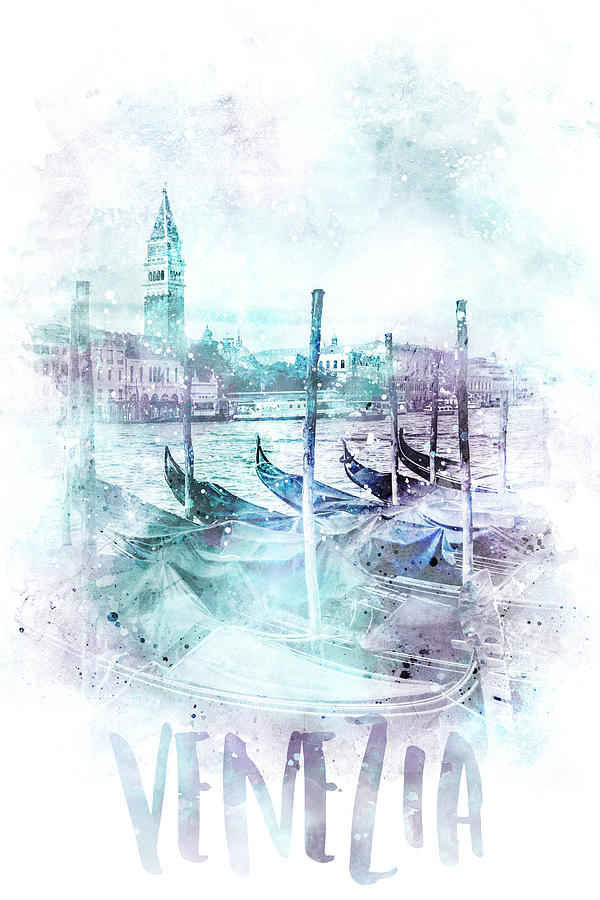 Venice Mixed Media - Modern Art Canal Grande - Jazzy Watercolor by Melanie Viola