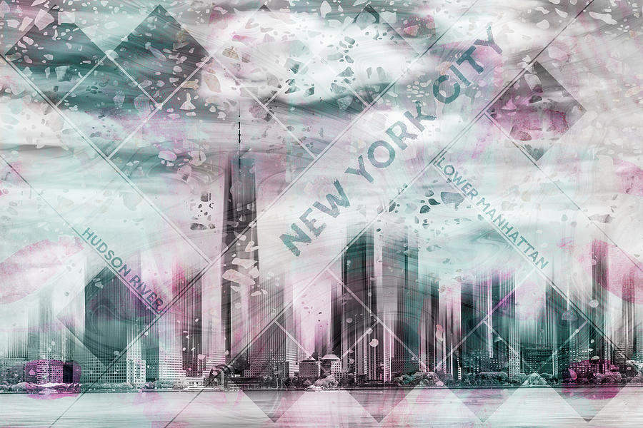 New York Photograph - Modern Art Lower Manhattan by Melanie Viola