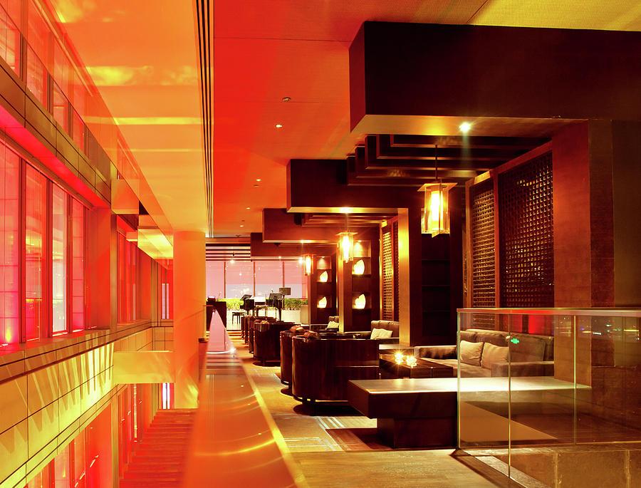 Modern Bar Lounge Photograph by Nikada