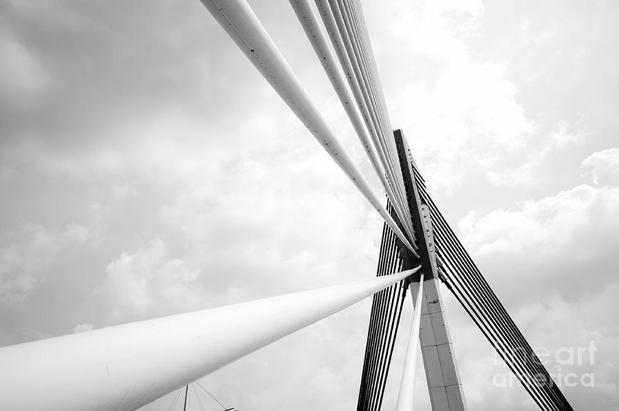 Shadow Photograph - Modern Bridge Architecture At Putrajaya by Azrisuratmin