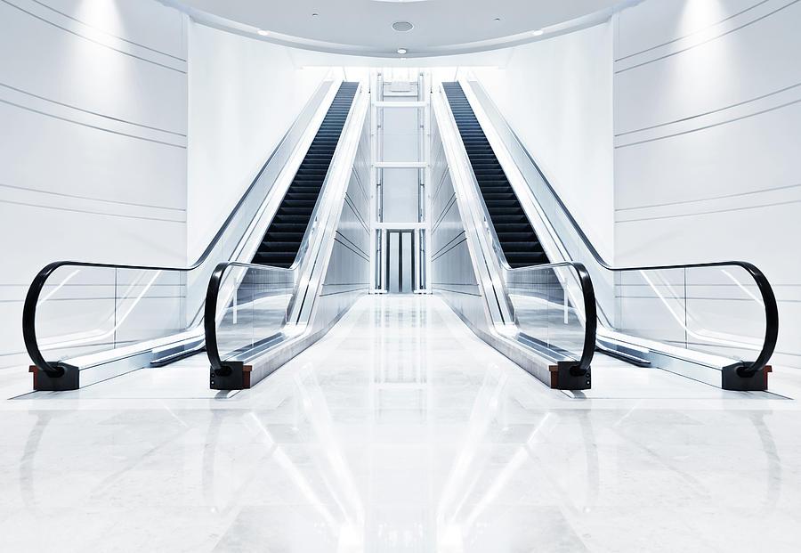 Modern Escalator Photograph by Tomml