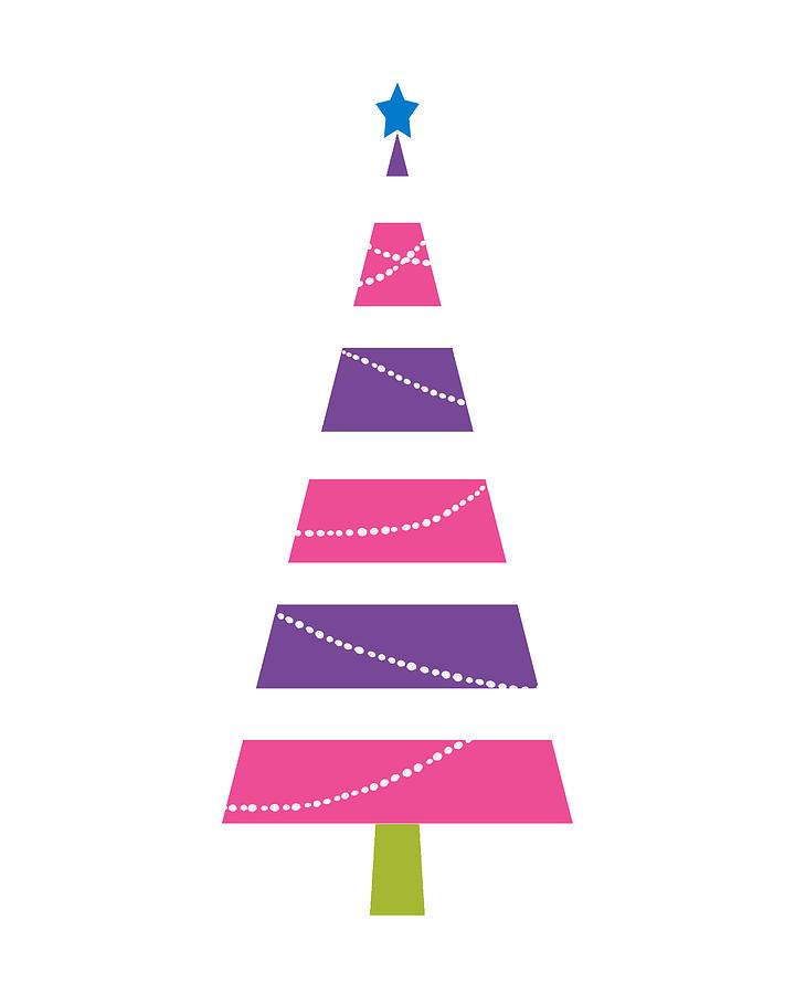 Christmas Digital Art - Modern Glam Christmas Tree 1- Art By Linda Woods by Linda Woods