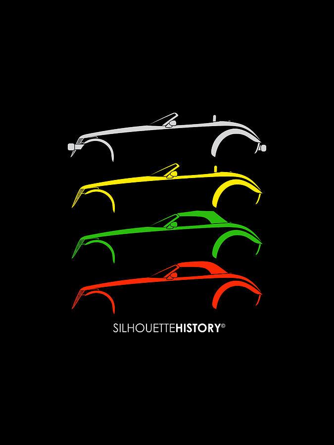 Modern Hot Rod SilhouetteHistory by Gabor Vida