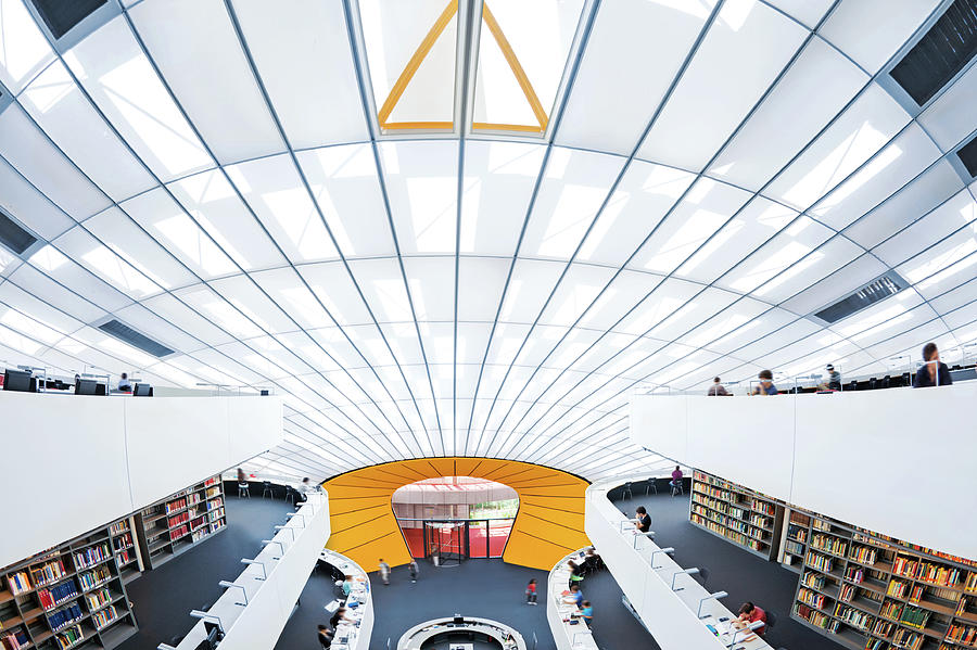 Modern Library Photograph by Nikada