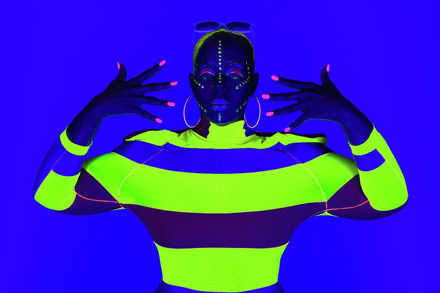 Modern Neon Portrait by Dennis Dame