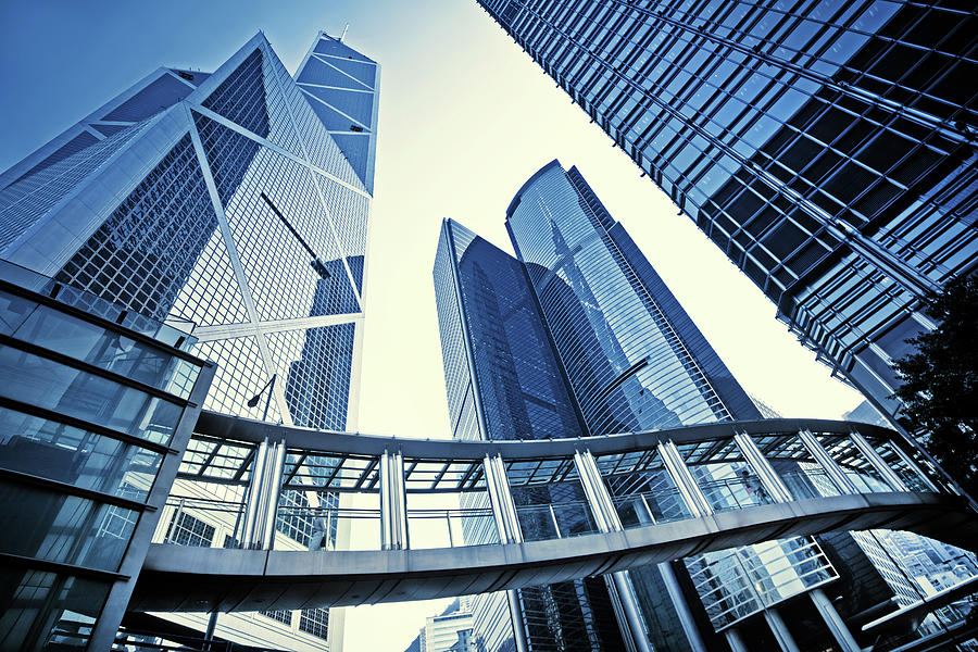 Modern Office Buildings Photograph by Nikada
