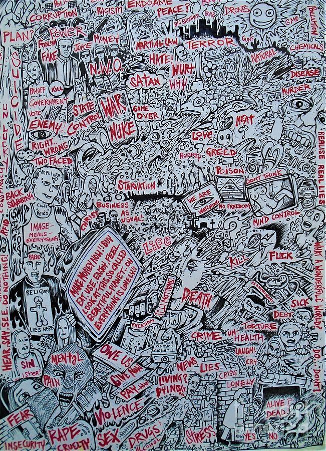 Modern panic in the free world by SAM HANE