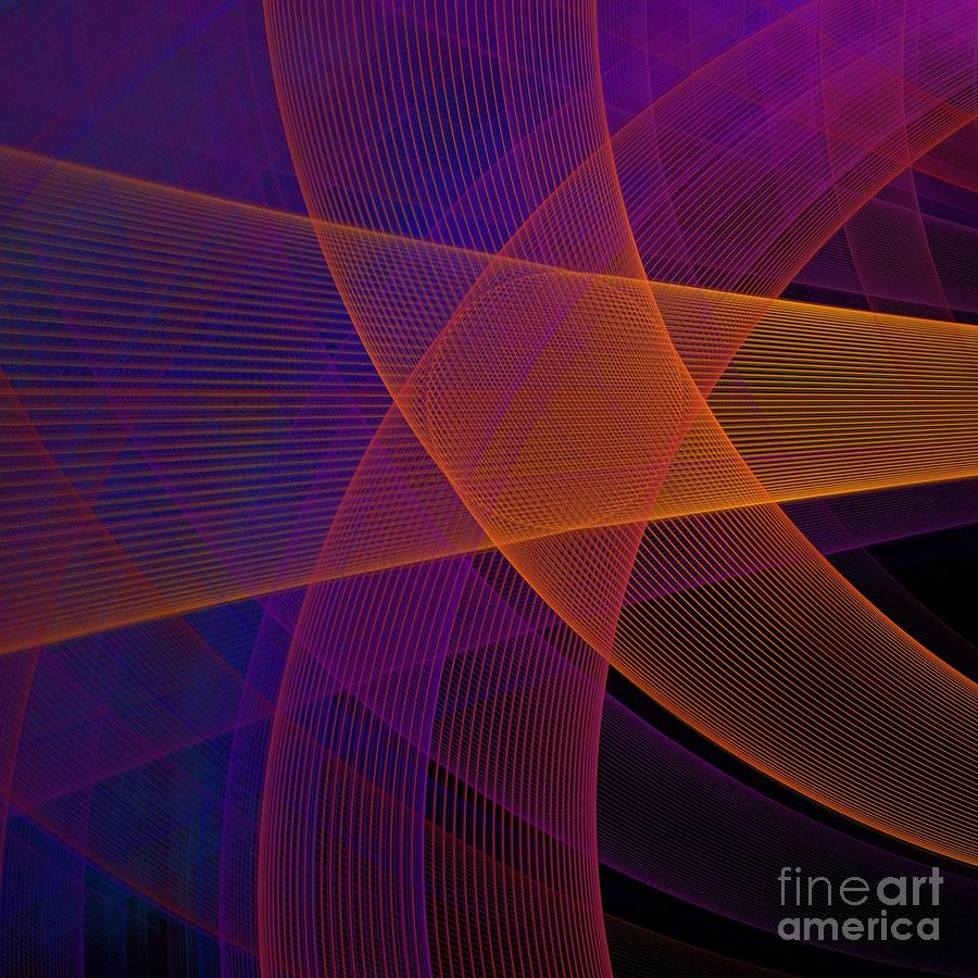 Symbol Digital Art - Modern Pink, Purple And Orange Fractal by Jennifer Gottschalk