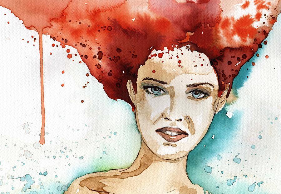 modern portrait by Katarzyna Bruniewska-Gierczak