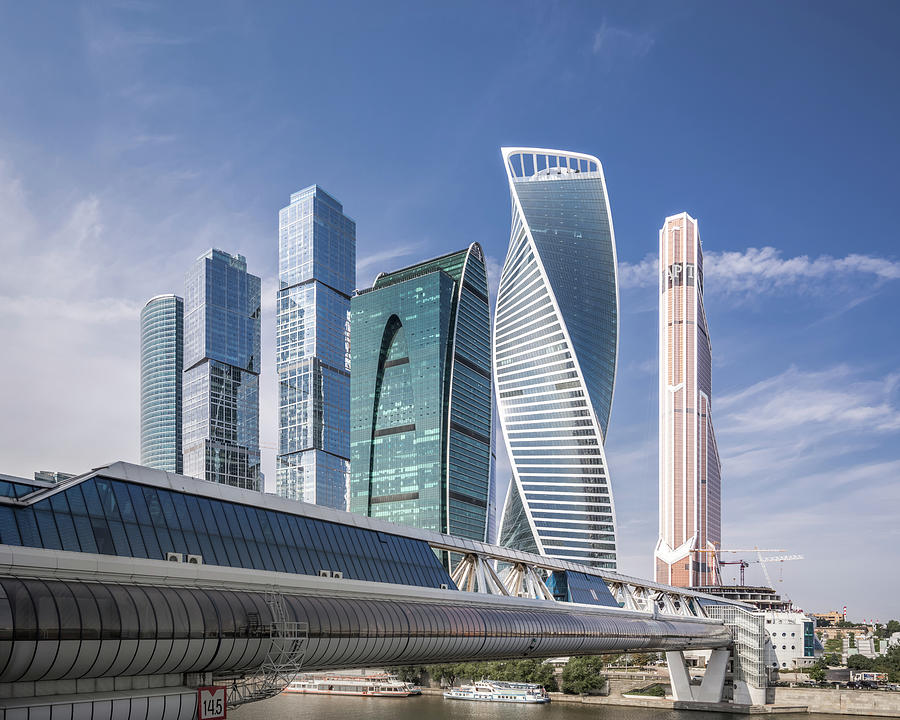 Modern Skyscrapers In Moscow Photograph by Yongyuan Dai