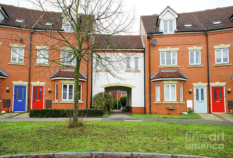Address Photograph - Modern Town Houses by Tom Gowanlock