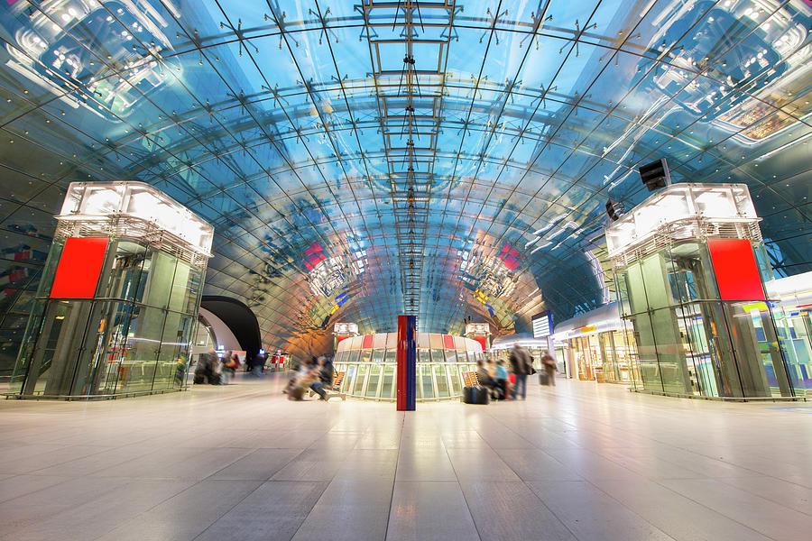 Modern Train Station Frankfurt Germany Photograph by Mlenny