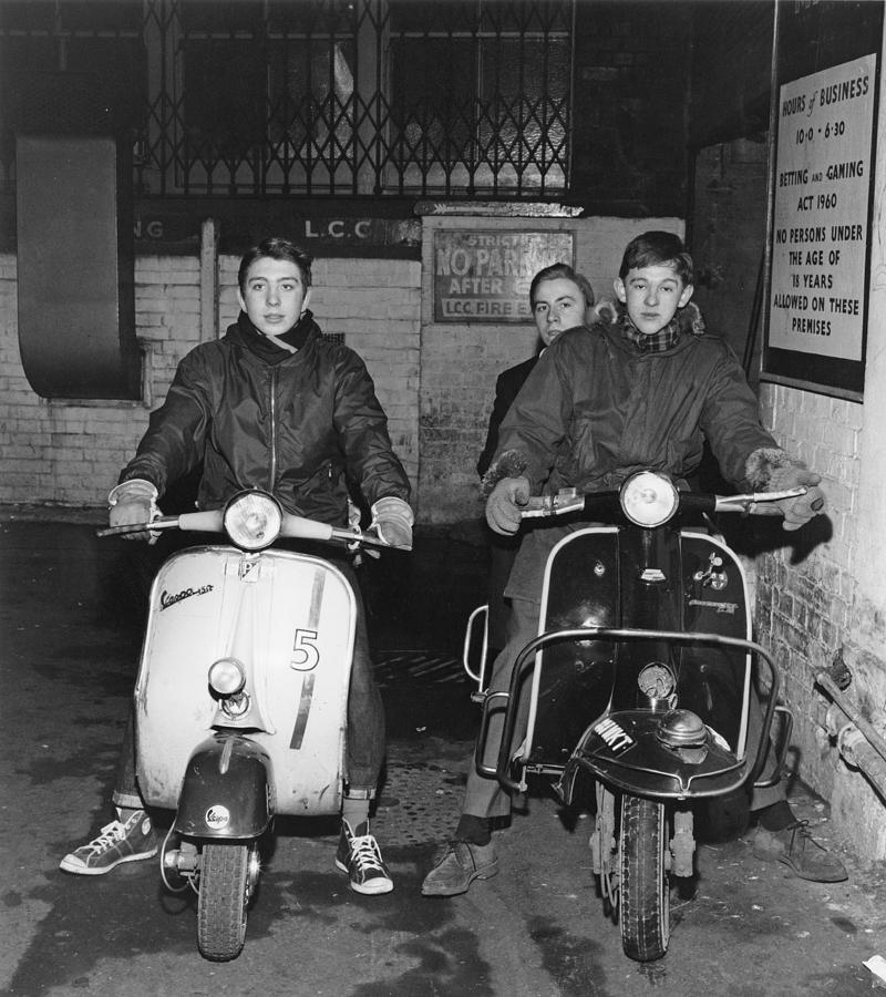 Mods In Soho Photograph by David Redfern