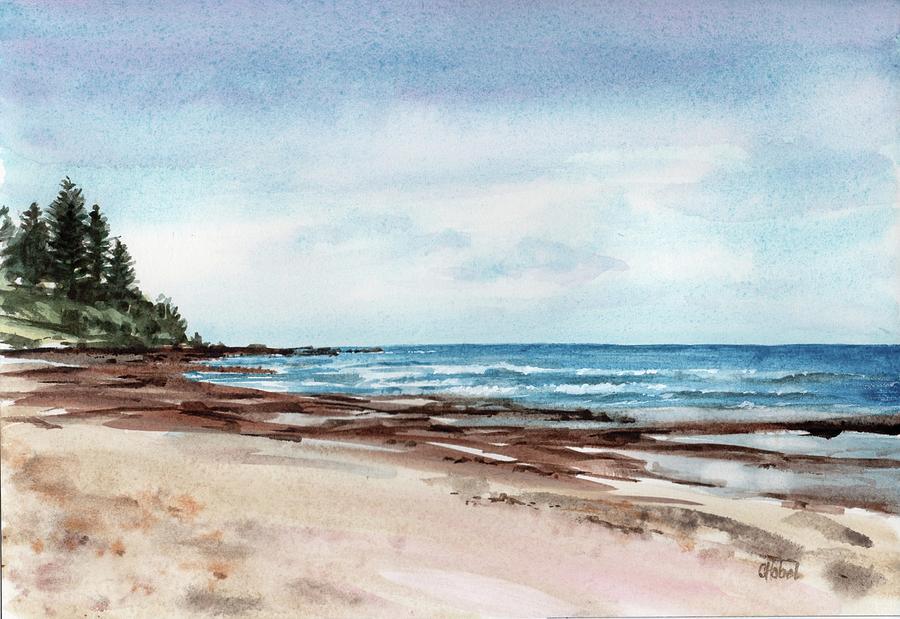 Moffatt Beach Queensland Painting by Chris Hobel